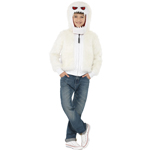 Abominable Monster, White, Furry Jacket with Hood