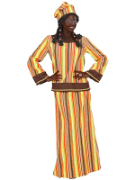 African Woman Heavy Fabric Costume