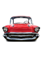 American Classic Car - Red -  Large Stand in Cutout