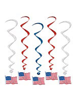 American Flag Whirls 3'
