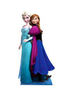 Anna & Elsa from Frozen Cardboard Cutout