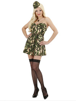 Army Girl (Corset Skirt Hat)