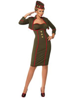 Army Girl Retro Costume