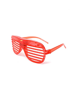 Flashing Shutter Shades - Red