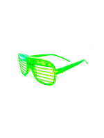 Flashing Shutter Shades - Green