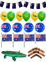 Australia Party Fun Pack Large includes