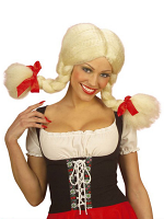 Heidi Blonde Wig with Bendable Plaits