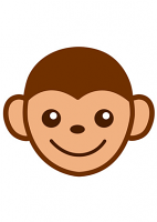 Baby Monkey Cartoon Emoji Mask