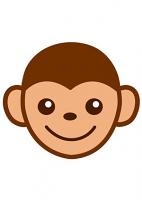 Baby Monkey Cartoon Emoji Mask