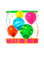 "Balloon Bright 10"" Paper Square Plate"