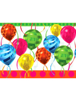 Balloon Bright Plastic Tablecloth