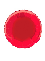 "Foil Balloon Solid Metallic Red Round 18"" (Requires Helium)"