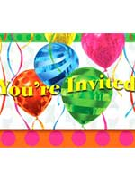 Balloon Bright Invitations