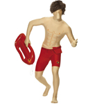 Baywatch Second Skin Costume, Red