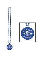Beads with Printed Oktoberfest Medallion 33""