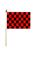 Black & Red Check Flag