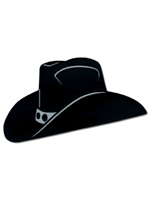 Black Foil Cowboy Hat Silhouette (2 Per Pack)