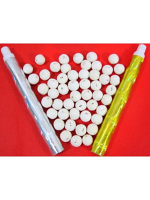 Blow Balls & Tubes. 50 Lightweight Paper Blow Balls And 2 x Tubes