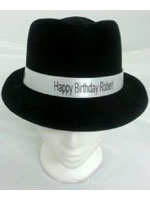 Blues Brothers Flocked Hat Branded