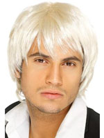 Boy Band Wig - White/Blonde