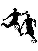 "Boy Football Silhouettes 27½"" & 28"""