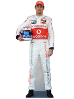 Jenson Button Formula One Racing Driver Life-size Cardboard Cutout