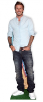 David Beckham Lifesize Cardboard Cutout Football and Model - Cardboard Cutout
