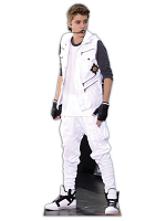Justin Bieber- White Tracksuit Life-size Cardboard Cutout