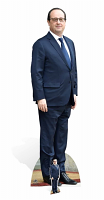 Francois Hollande Life-sized cardboard cutout