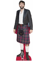 David Tennant Wearing Kilt Life-size Cardboard Cutout