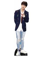 Kim Seok-jin (Jin) Red Tie BANGTAN BOYS Life-size Cardboard Cutout