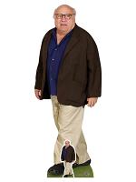 Danny DeVito Blue Shirt Cream Trousers