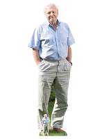 David Attenborough Cardboard Cutout with Free Table Top