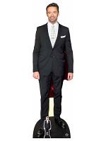 Hugh Jackman Polka Dot Tie