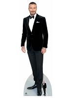 David Beckham Smart Black Suit Bow Tie