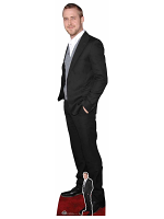 Ryan Gosling Black Suit Cute Smile Cardboard Cutout