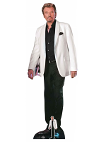 Johnny Hallyday Cardboard Cutout with Free Mini Cardboard Cutout