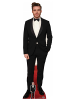 Richard Madden Bowtie Bodyguard Cardboard Cutout with Free Mini Cardboard Cutout