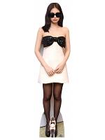 Jennie Kim Black Pink Cardboard Cutout with Free Mini Standee