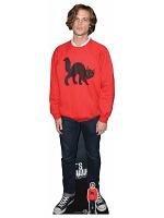 Matthew Gray Gubler Red Jumper Cardboard Cutout with Free Mini Standee
