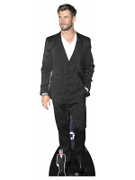 Chris Hemsworth White Shirt Cardboard Cutout with Free Mini Standee