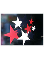 Cardboard Stars Red - White And Blue