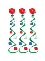 Casino Dice Whirls (Pack of 3)
