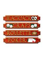 Casino Sign Cutouts Printed (4 In A Pack)