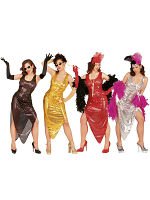 Celebrity Costume Gold/Silver/Red/Black (Dress)