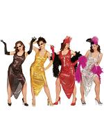 Celebrity Costume Gold/Silver/Red/Black (Dress)
