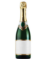 Champagne Bottle Cardboard Cutout