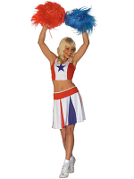 Cheerleader - White/Red/Blue
