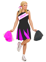 Cheerleader - Black/Pink Costume (Dress)