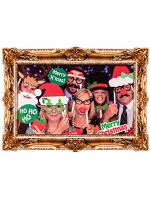 Christmas Photo Booth Kit with Frame